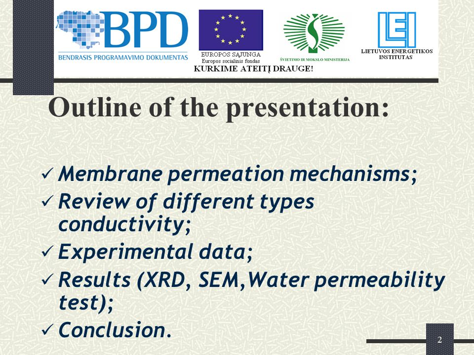 3 There are two main membrane permeation mechanisms: Through the bulk of the material (dense membranes).