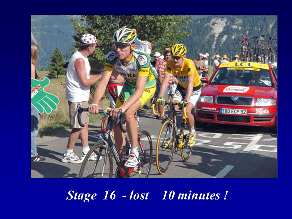 Stage 17 - he effectively won the Tour de France How did he recovery so fast ?