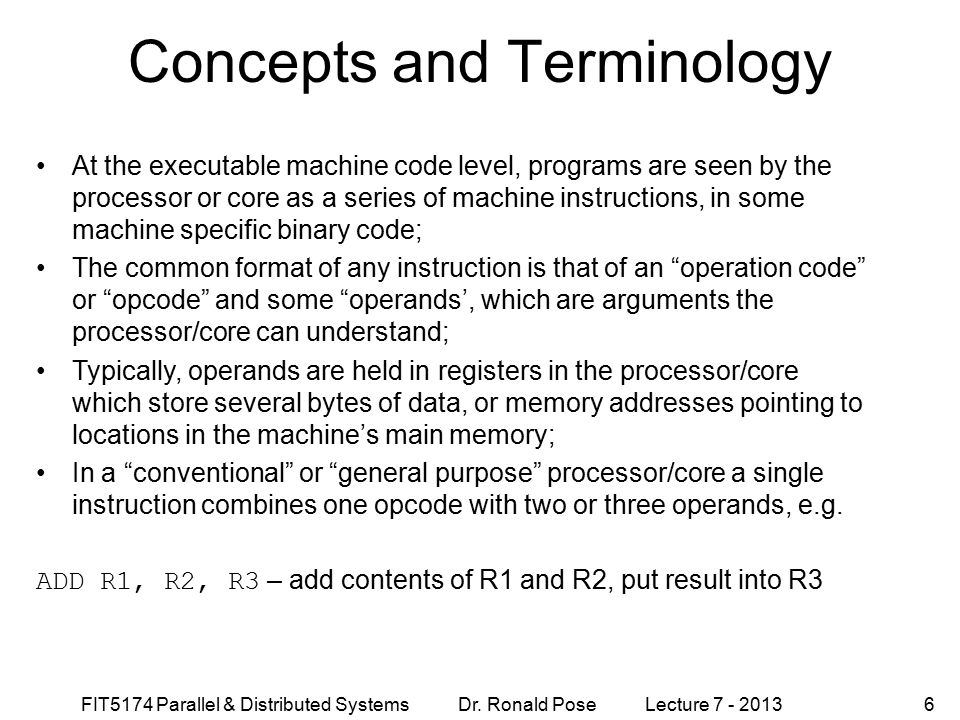 FIT5174 Parallel & Distributed Systems Dr.