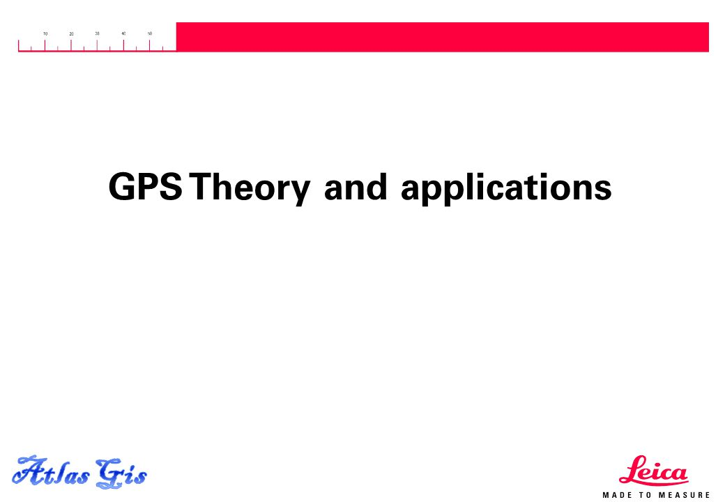 15.04.2015, Page 1 GPS Theory and applications
