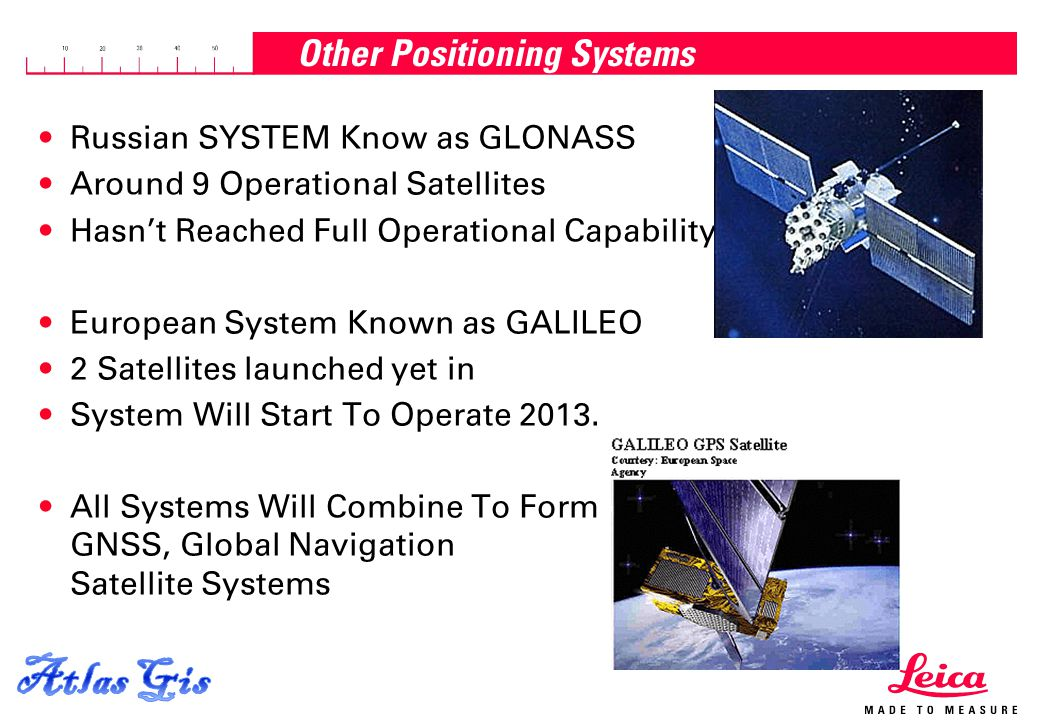 15.04.2015, Page 3 Other Positioning Systems Russian SYSTEM Know as GLONASS Around 9 Operational Satellites Hasn't Reached Full Operational Capability