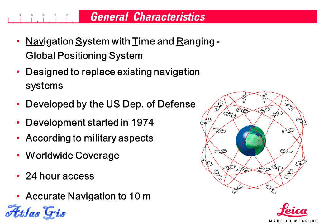 15.04.2015, Page 5 Navigation System with Time and Ranging - Global Positioning System Designed to replace existing navigation systems Developed by th
