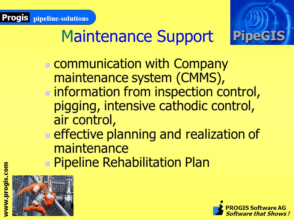 www.progis.com pipeline-solutions Progis PROGIS Software AG Software that Shows .
