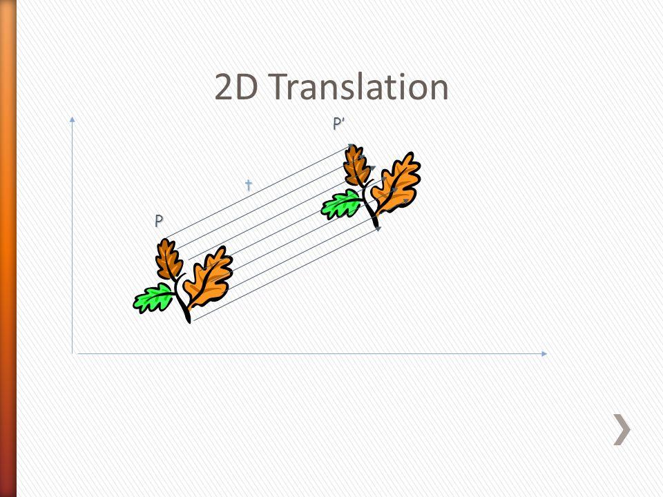 2D Translation t P P'P'P'P'