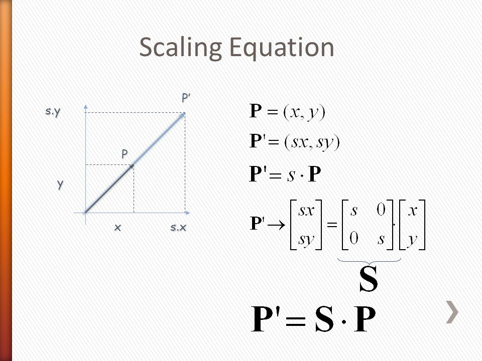 Scaling Equation P x y s.x P'P'P'P' s.y