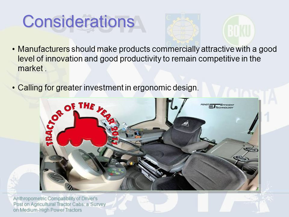 Manufacturers should make products commercially attractive with a good level of innovation and good productivity to remain competitive in the market.