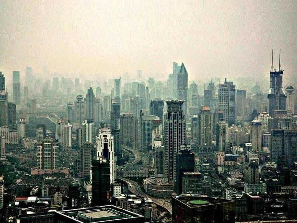 Shanghaï China One of the Largest Urban Areas in the World With Over 20 Million People in Metropolitan Area