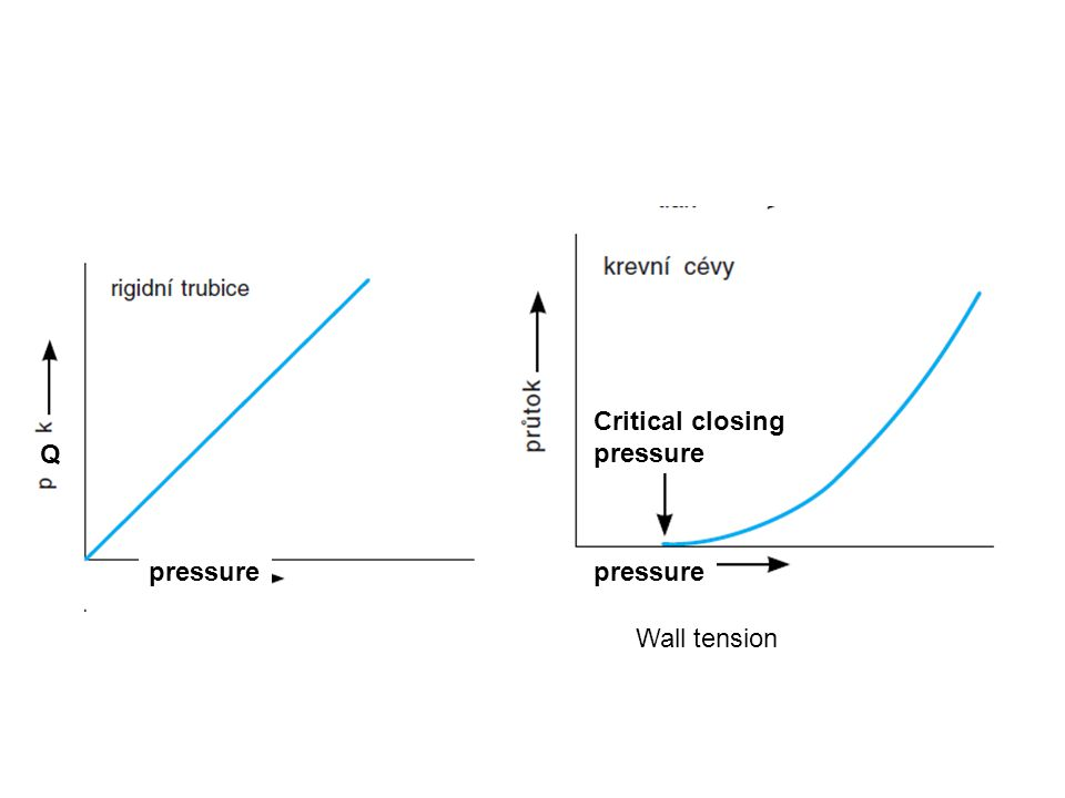Wall tension Q pressure Critical closing pressure