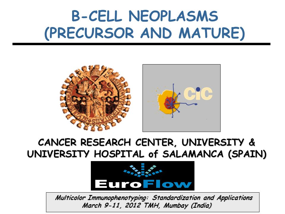 CANCER RESEARCH CENTER, UNIVERSITY & UNIVERSITY HOSPITAL of SALAMANCA (SPAIN) Multicolor Immunophenotyping: Standardization and Applications Multicolo