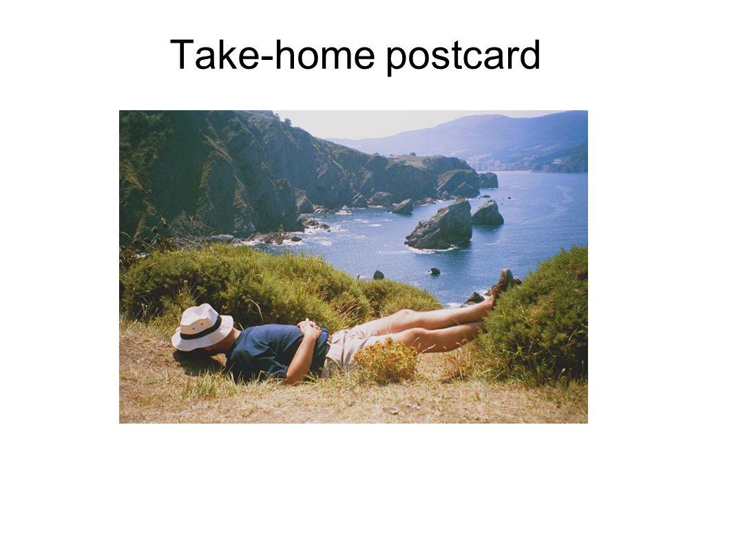 Take-home postcard