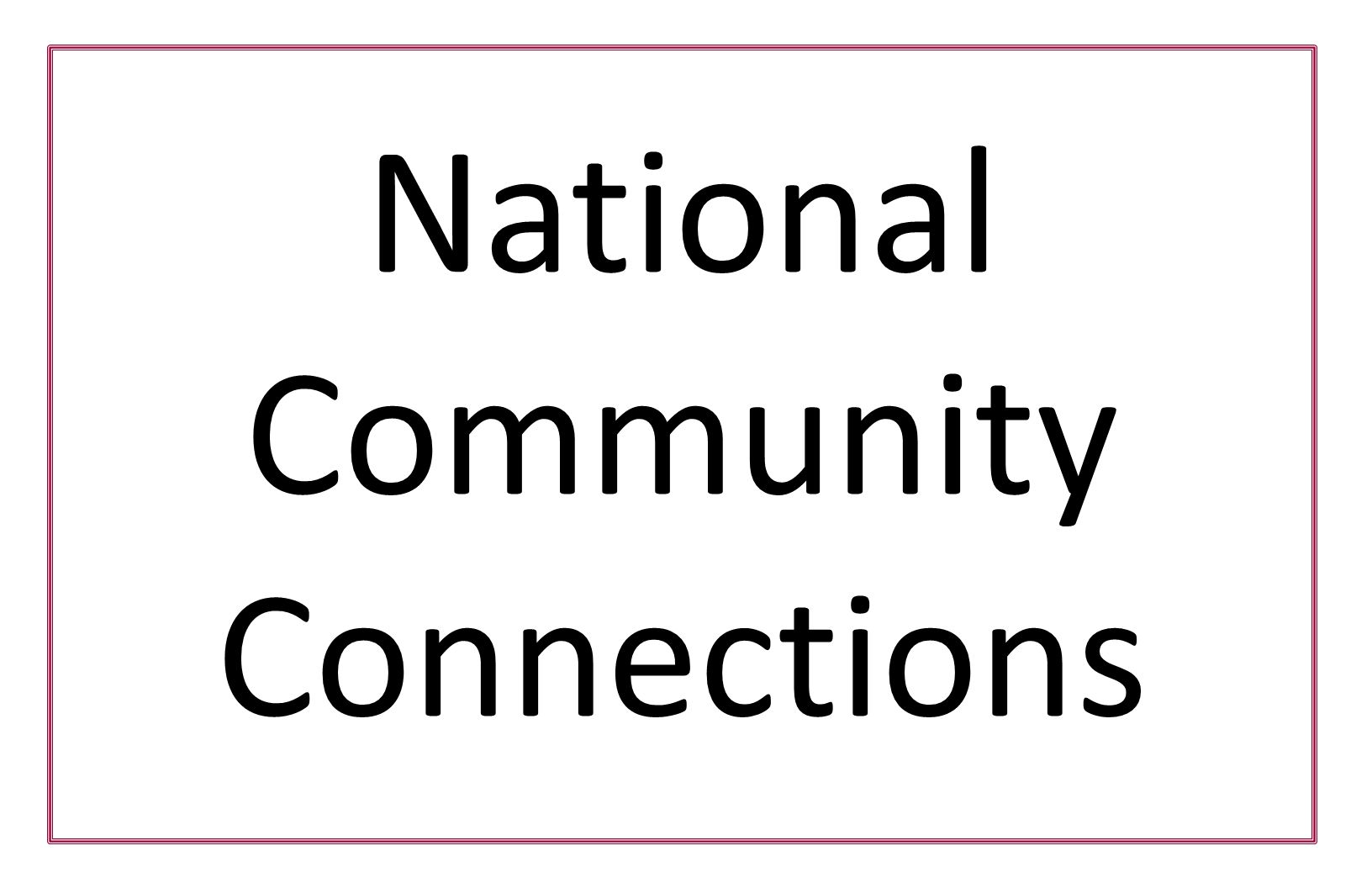 National Community Connections