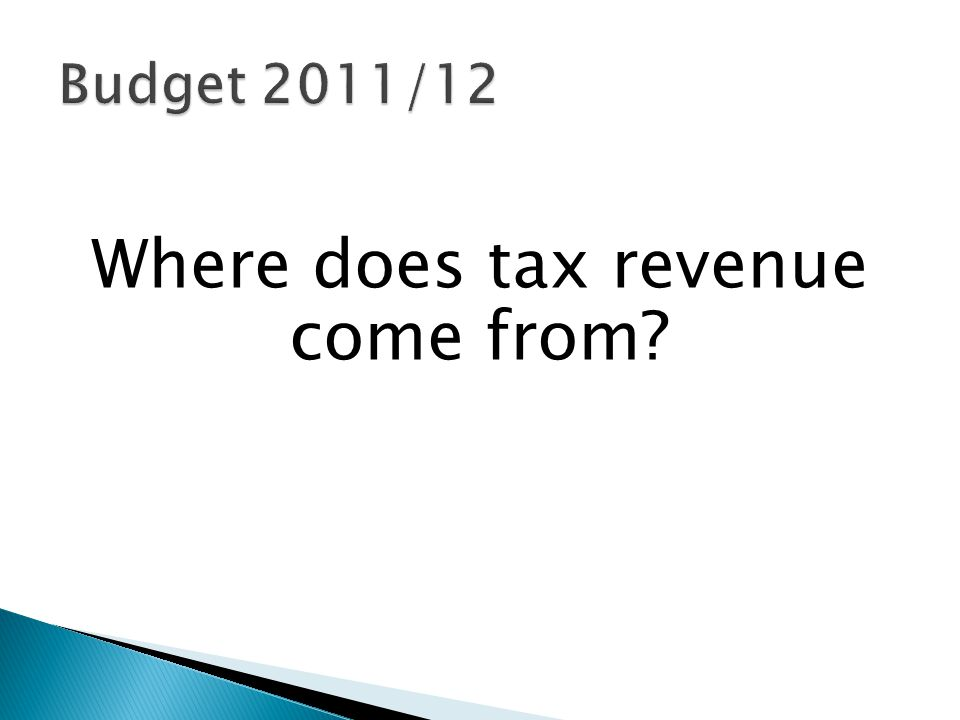 Where does tax revenue come from?