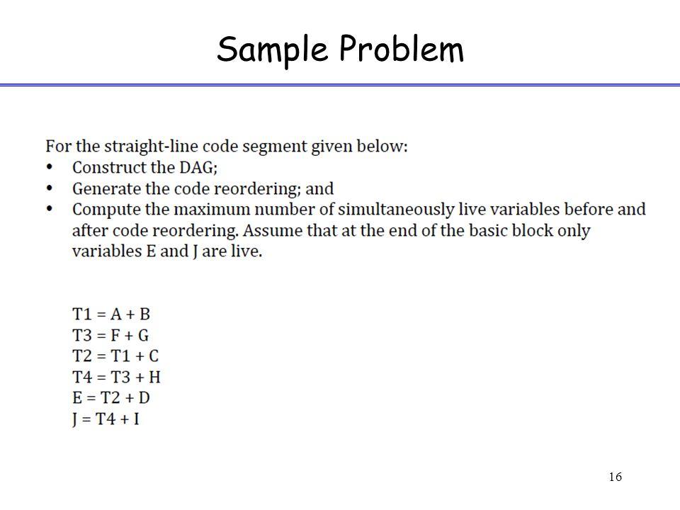 Sample Problem 16
