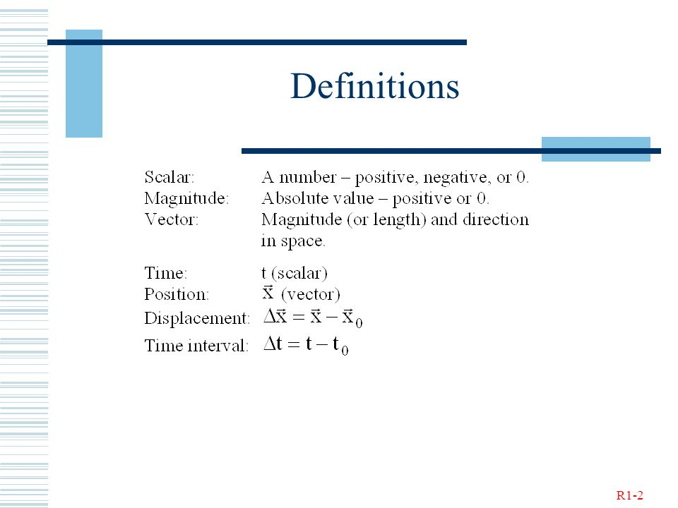 R1-2 Definitions