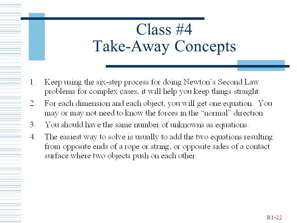 R1-22 Class #4 Take-Away Concepts