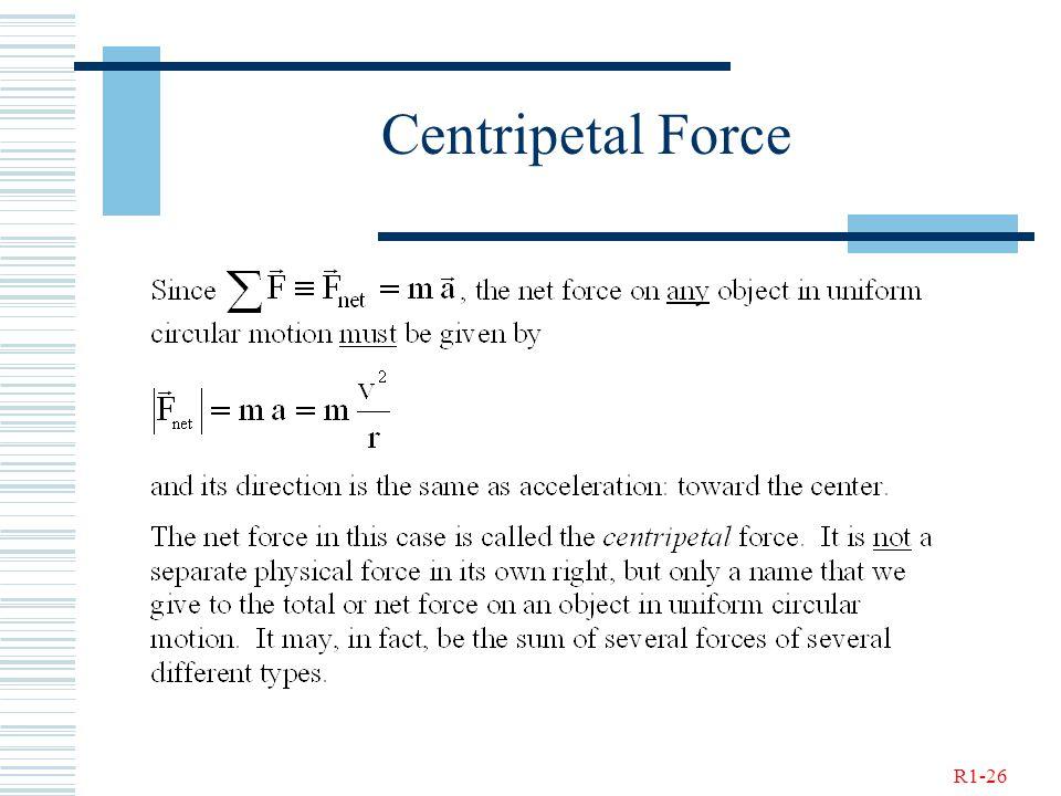 R1-26 Centripetal Force