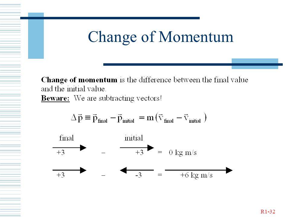 R1-32 Change of Momentum