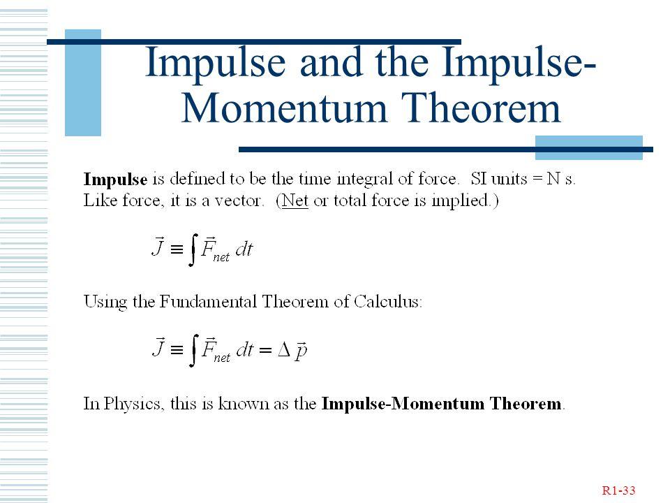 R1-33 Impulse and the Impulse- Momentum Theorem