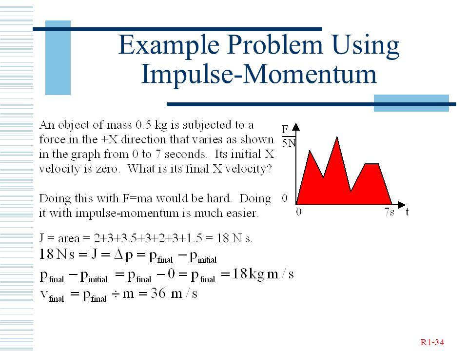 R1-34 Example Problem Using Impulse-Momentum