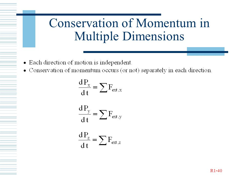 R1-40 Conservation of Momentum in Multiple Dimensions