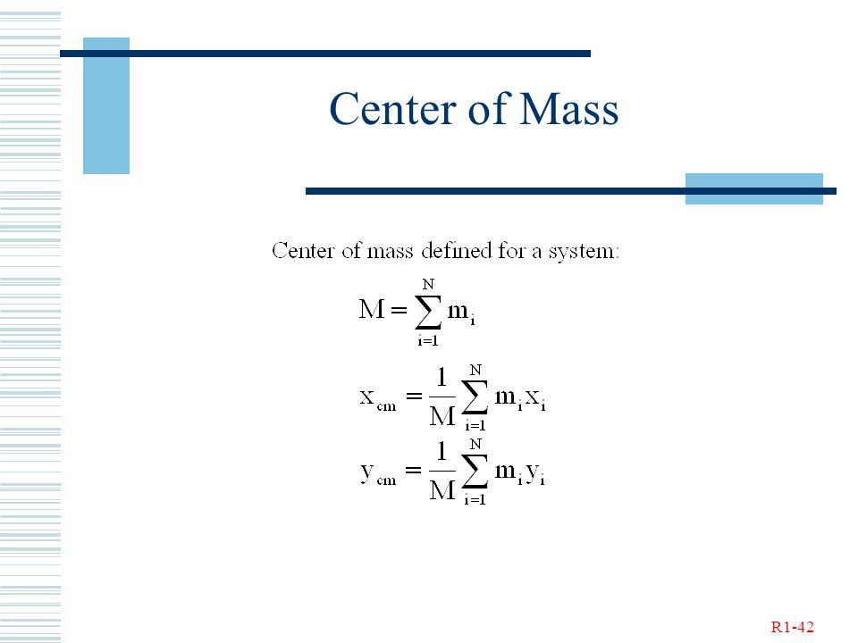 R1-42 Center of Mass