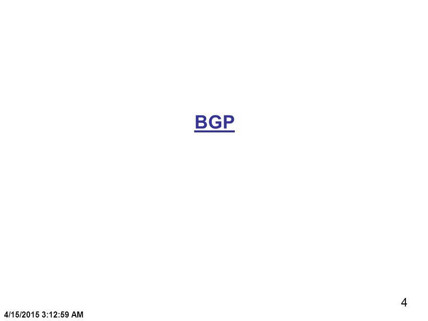 4 4/15/2015 3:13:20 AM BGP