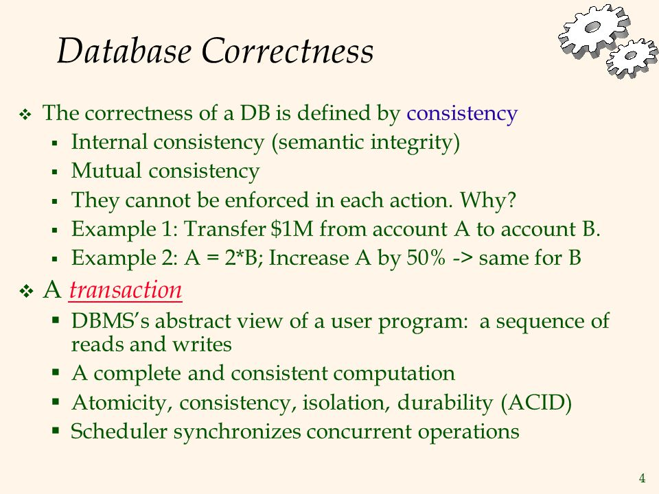 35 Correctness of Schedulers  Need to prove  All schedules representing the executions that can be produced by the scheduler are serializable (SR)  How to do it.