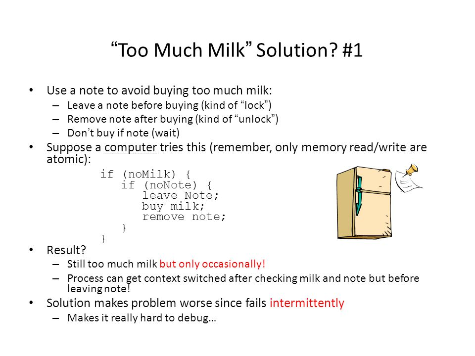 Too Much Milk Solution.