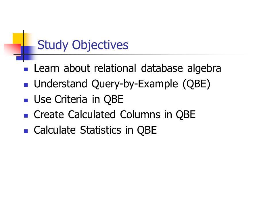 Relational Algebra Relational algebra is a procedural query language.
