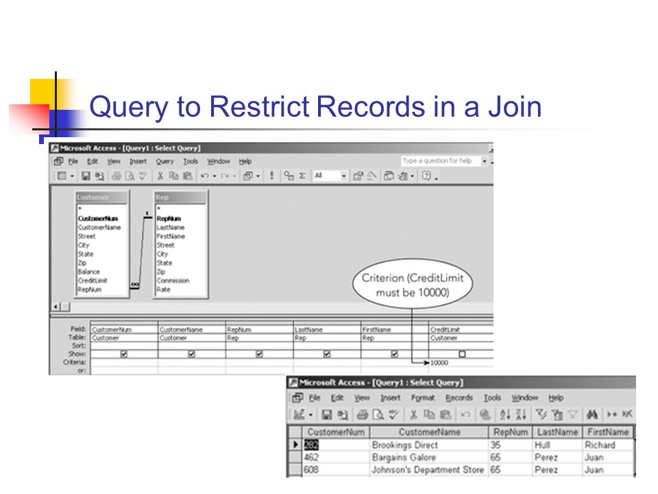 Query to Restrict Records in a Join