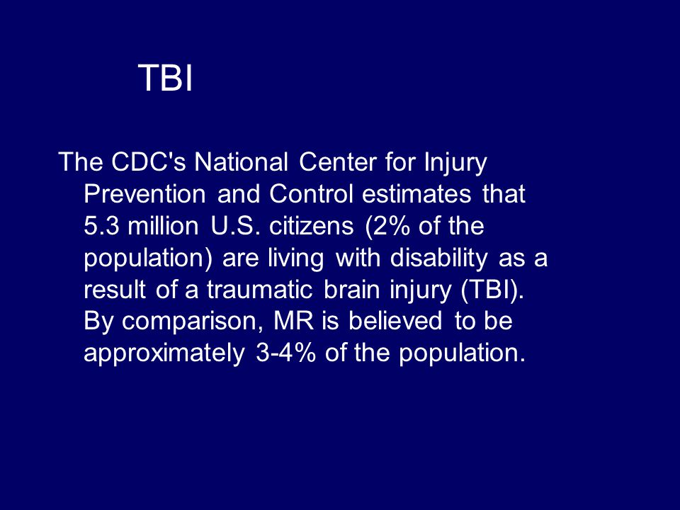 TBI  TBI, SCI, traumatic injuries have high pre- and post-morbid rates of AOD abuse  Increase cerebral insult with TBI, reduced judgment and drug to