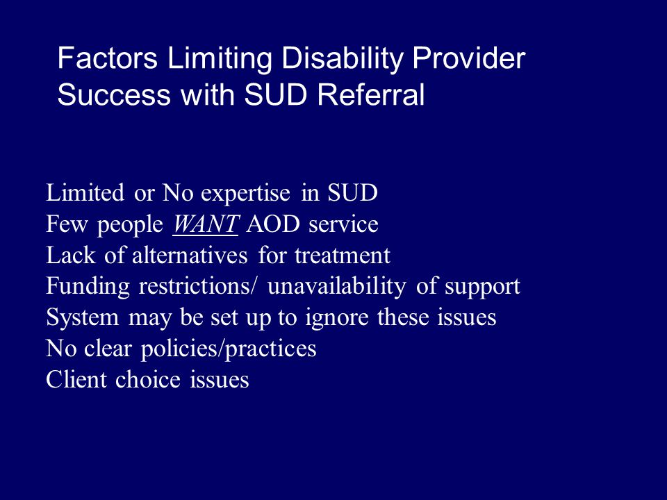 AOD Treatment Denials 1. Individual with seizure disorder and history of traumatic brain injury denied residential treatment while taking prescribed a
