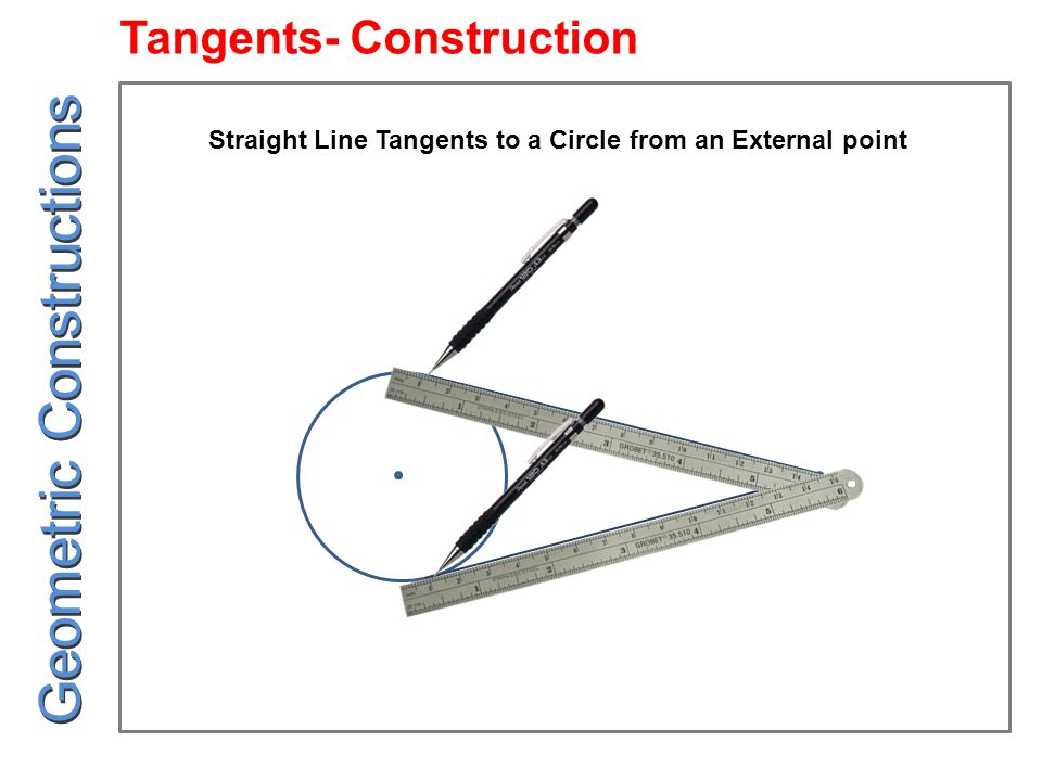 R-r1 r2 R+r2 R r1 R-r1 R+r2 R Cross Circular Tangent of Radius 'R' Between Two Circles of Radius 'r1' and 'r2' Geometric Constructions Tangents- Construction
