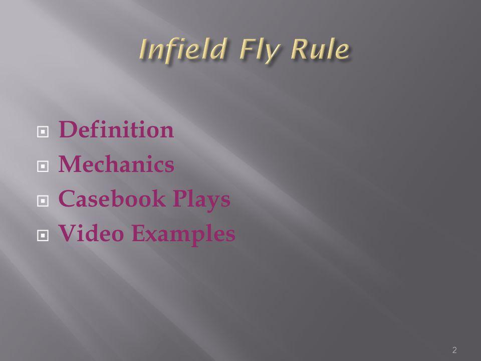  Definition  Mechanics  Casebook Plays  Video Examples 2