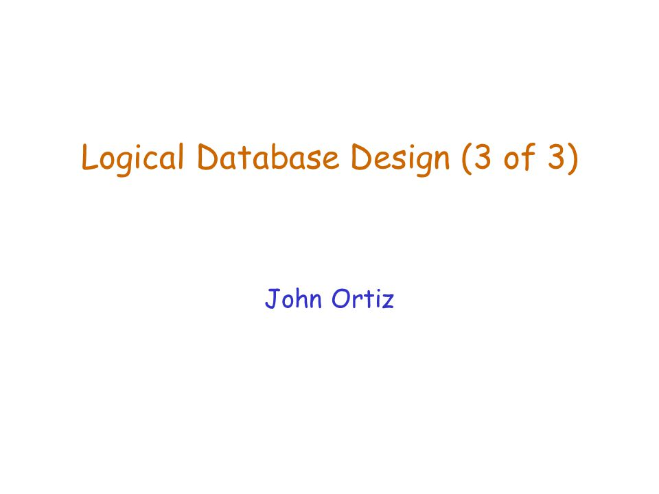 Lecture 7Logical Database Design (2)2 Normalization  If a relation is not in BCNF or 3NF, we refine it by decomposing it into two or more smaller relation schemas that are in the normal form.