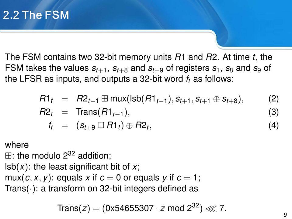 9 2.2 The FSM