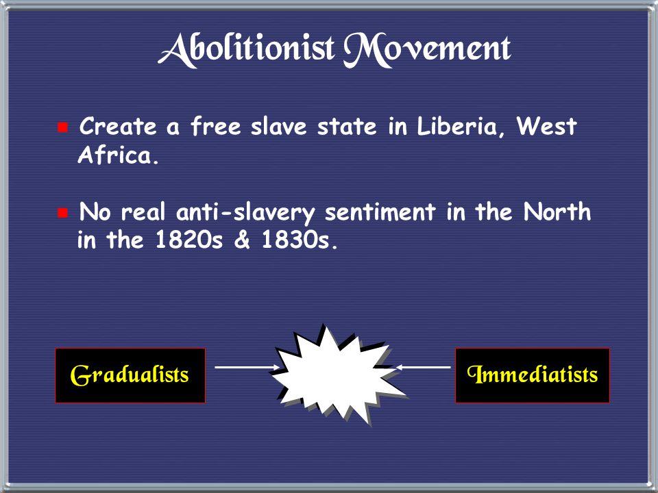 6. Abolitionist Movement  1816 --> American Colonization Society created (gradual, voluntary emancipation. British Colonization Society symbol