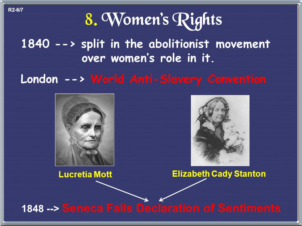 Cult of Domesticity = Slavery The 2 nd Great Awakening inspired women to improve society. Angelina GrimkéSarah Grimké e Southern Abolitionists Lucy St