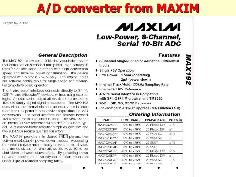 A/D converter from MAXIM