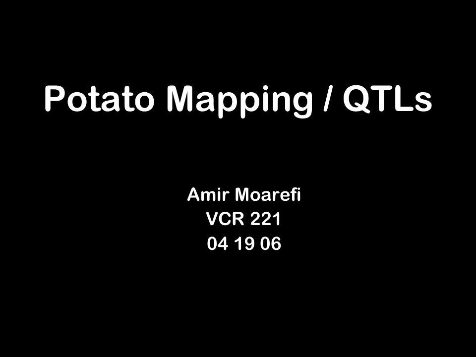 Potato Mapping / QTLs Amir Moarefi VCR 221 04 19 06