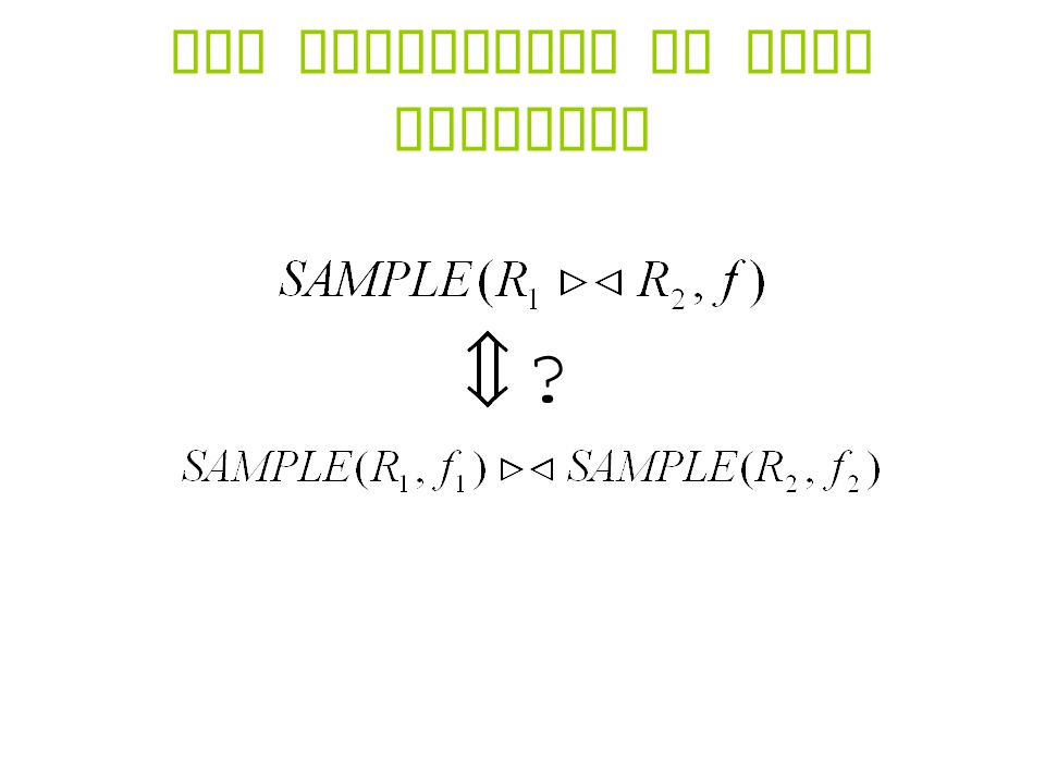The Difficulty of Join Sampling