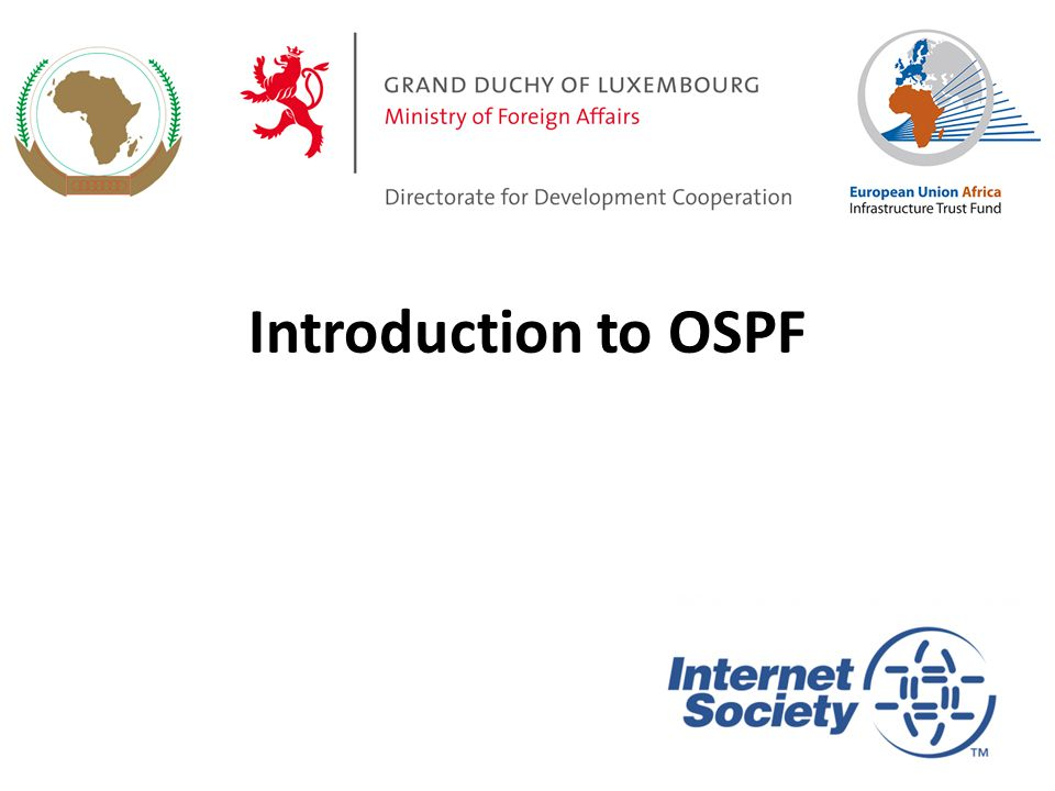 Introduction to OSPF 1