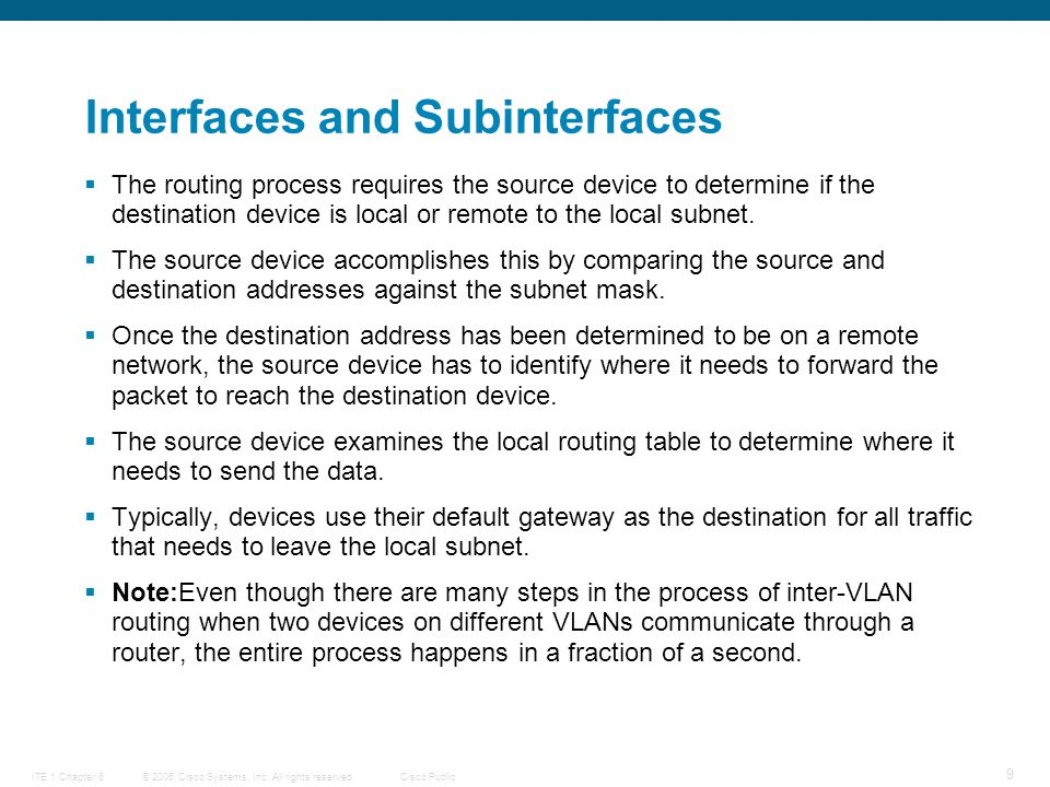 © 2006 Cisco Systems, Inc. All rights reserved.Cisco PublicITE 1 Chapter 6 20