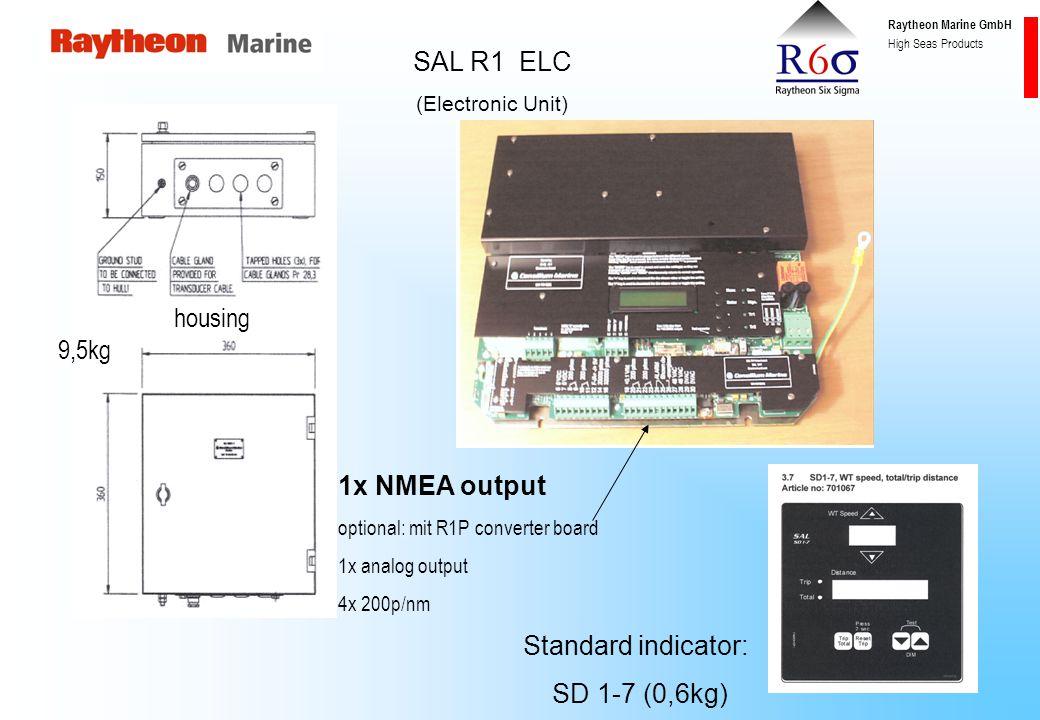 Raytheon Marine GmbH High Seas Products SAL R1 bottom parts Gate valve singe hull for SAL R1; 24kg Transducer (2-elements) SAL R1