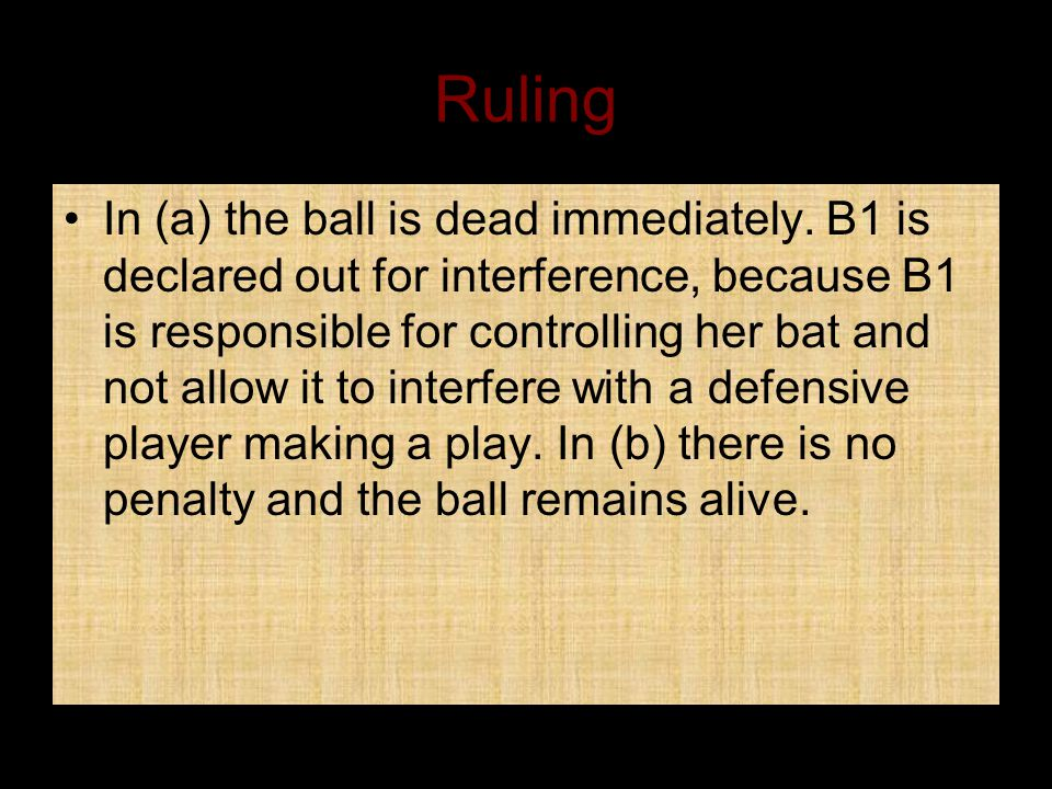 Ruling In (a) the ball is dead immediately.