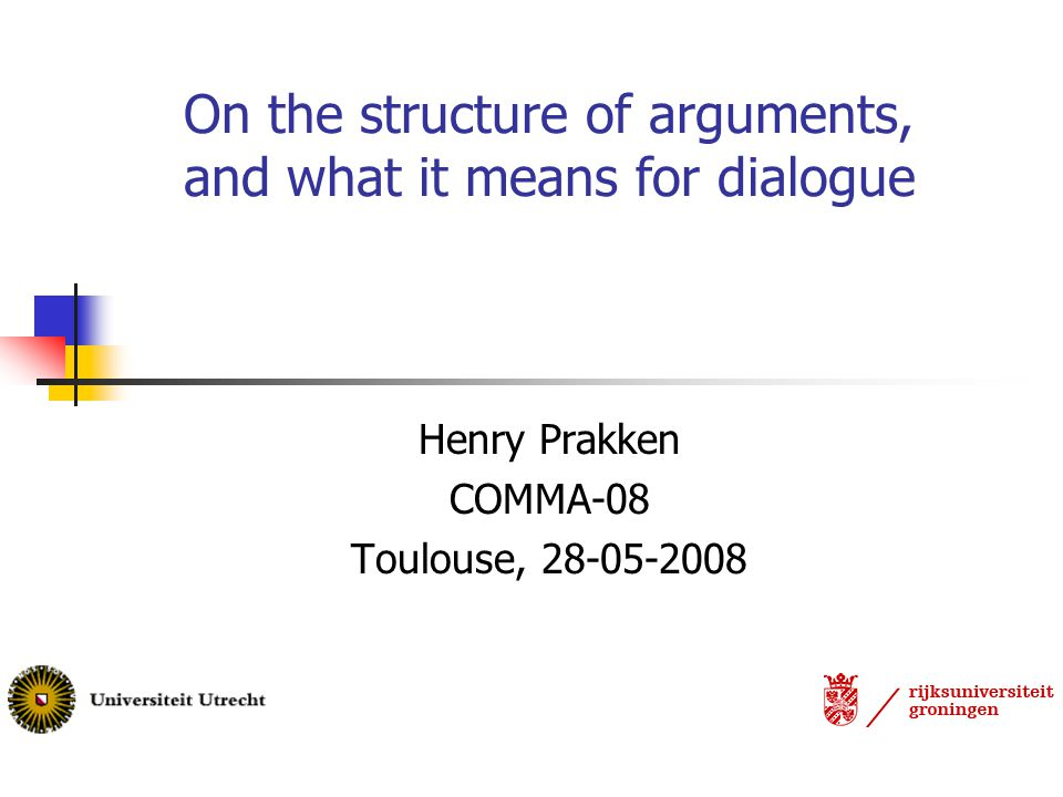 Overview The structure of arguments: overview of state-of-the art Argument schemes A legal example Abstraction in dialogue Combining modes of reasoning Conclusions