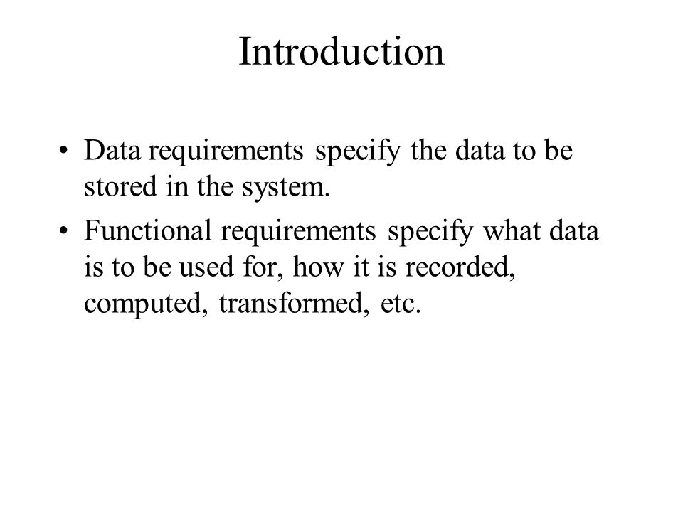 Fig 3.15 Standards as requirements R1:Data transfer to the account package shall be done through a file with the format described in WonderAccount Interface Guide xx.yy.