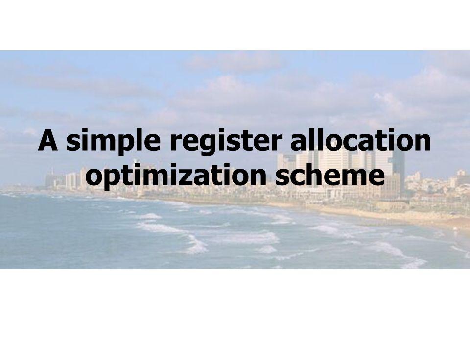 A simple register allocation optimization scheme