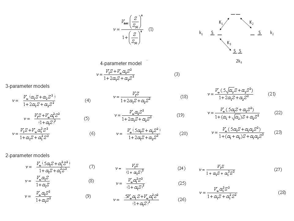 3-parameter models 2-parameter models 4-parameter model.