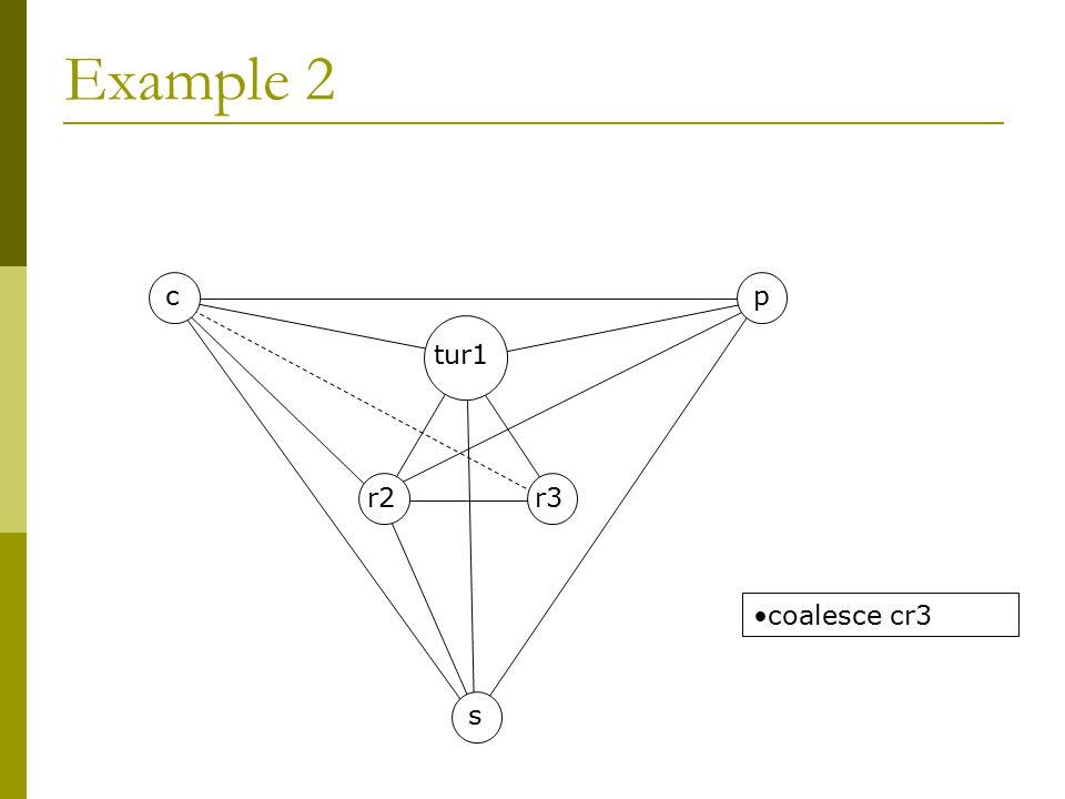 Example 2 s c r2r3 tur1 p coalesce cr3